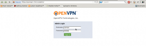 OpenVPN AS login screen