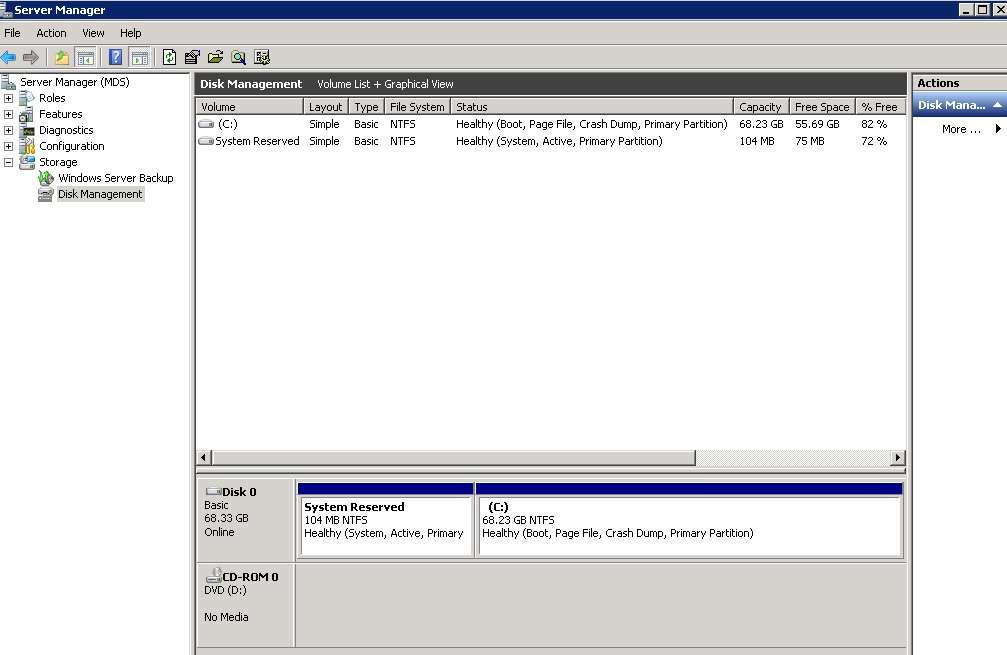 2. No disks Default